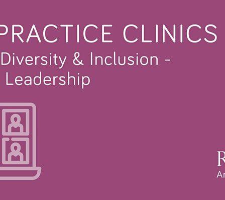 riba practice clinic EDI purple on white
